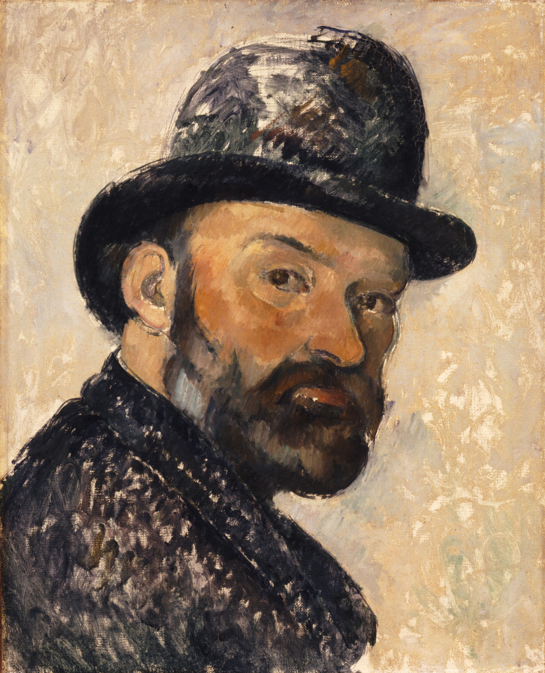 Self Portrait in a Bowler Hat, 1885-86 by Paul Ce¦üzanne. Ny Carlsberg Glyptotek, Copenhagen. Photo Ole Haupt