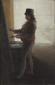 Goya - Self-Portrait in his Studio (193x300)
